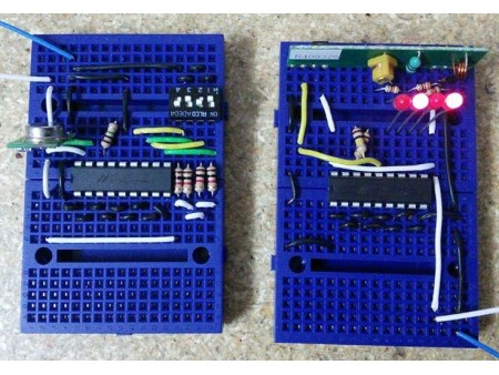 Control de RF con los circuitos integrados HT12E y HT12D